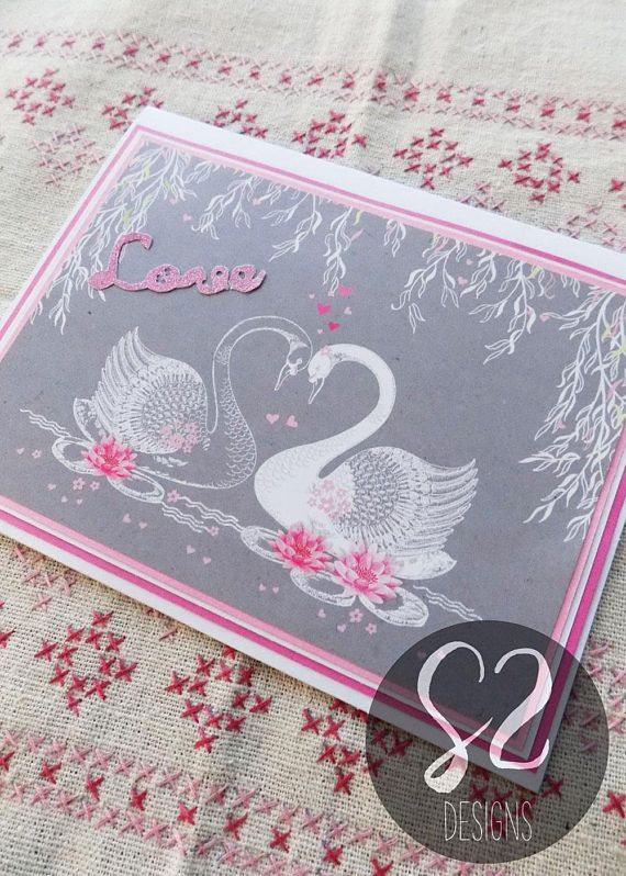 Show that special someone how much they mean to you with this elegant, handmade Swan Valentines Card! Details: Layered Paper Elements Inside Sentiment: Intentionally left blank for your personal message. Please note that some handcrafted cards can lead to higher postage costs when