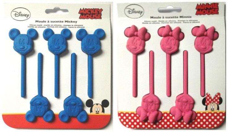 Topolino Disney Mickey e Minnie Mouse Stampini per Cioccolatini, Ghiaccioli e Lecca Lecca Sagomato in Silicone, Stampi per Dolci per Bambini Disney - Chocolate, glaces, jelly moulds