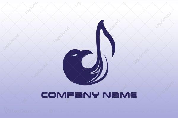 Logo for sale: Eagle Music Logo