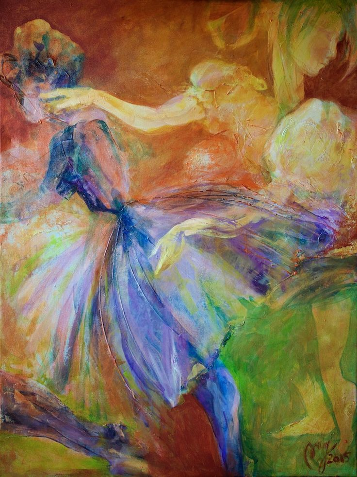 """""""Dans"""", 2015, akryl/lerret, 80x60 cm"""