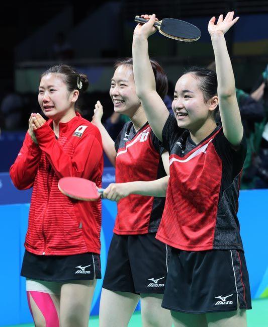 リオデジャネイロ五輪 卓球女子団体では石川佳純・福原愛・伊藤美誠選手が銅メダル獲得。2 大会連続となる快挙!リオオリンピック 2016