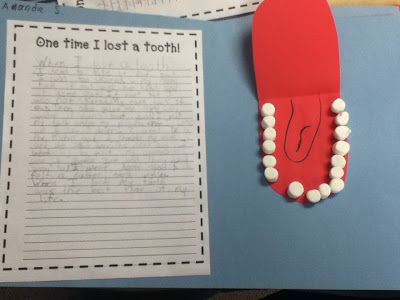 Second grade excitement = stress-free personal narrative assignment! Upcycled Education: Brilliant Idea for Losing Teeth