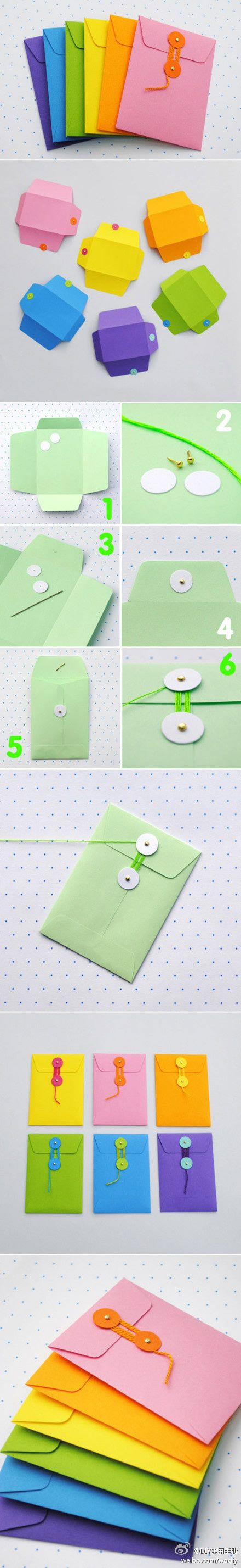 DA2014卟帶這樣哒采集到音乐、电影、图书 DIY clasp envelopes Great for my art journals