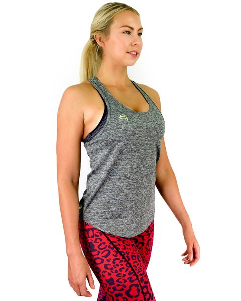 @strongliftwear FreeFlex Racerback - Grey #singlets #aesthetic #fashion #liftwear #fitness #women www.strongliftwear.com