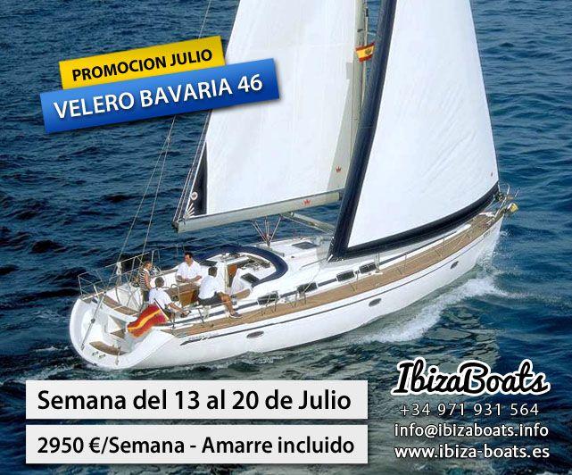 Alquiler velero en ibiza promoción Julio