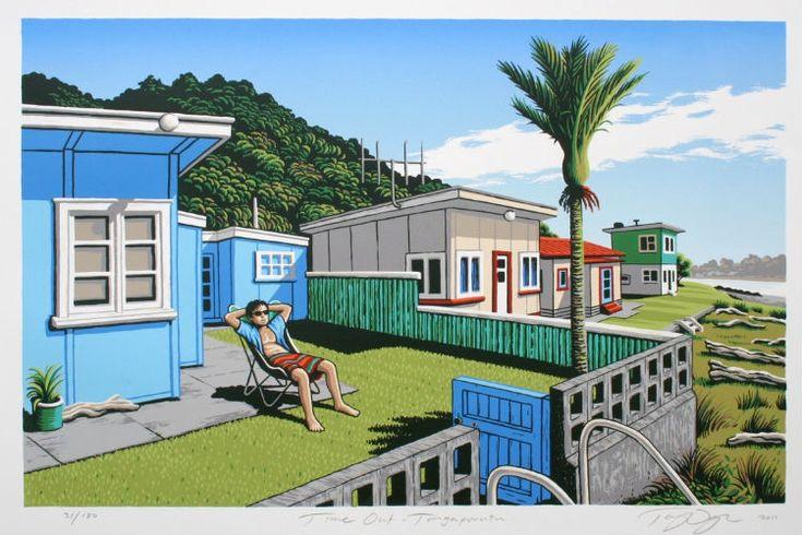 Tony Ogle - Time Out Tongaporutu for Sale - New Zealand Art Prints