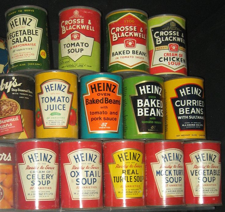 Soups and Heinz Beanz