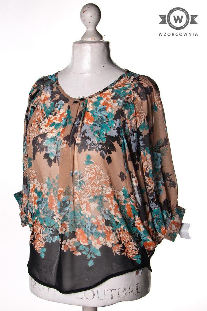 >> Wzorzysta bluzka nietoperz #NewLook #Wzorcownia online