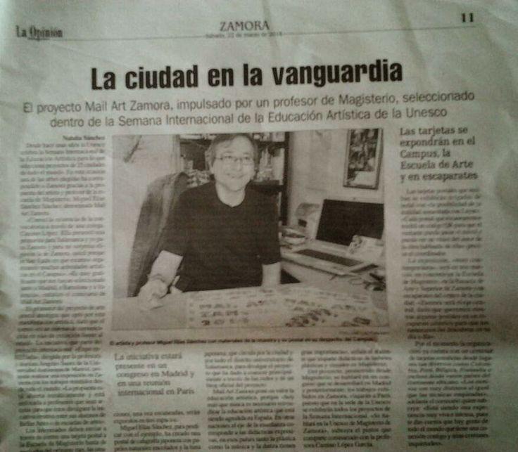"Expo Mail Art Zamora 2014: En la OPINION de Zamora, ""MAIL ART ZAMORA"""