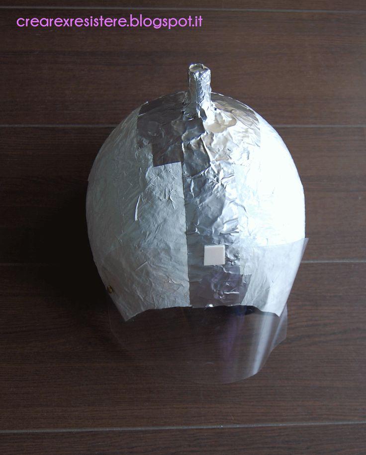 Creare per r'ESISTERE: Costumi di Carnevale Fai da Te: L'astronauta. Il Casco. DIY Astronaut Costume: The Helmet