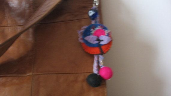 Felted cute keyringcolorful felt keychainfelt bag by CiciByMuy, $6.00
