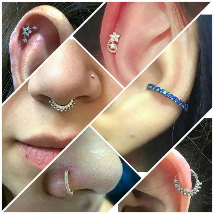 Piercings para nariz, septo e nariz! Lindos!!! www.lushpiercing.com.br
