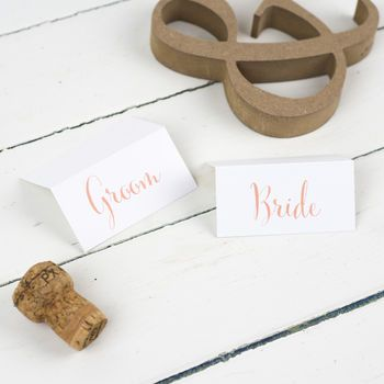 Calligraphy Script Wedding Place Cards