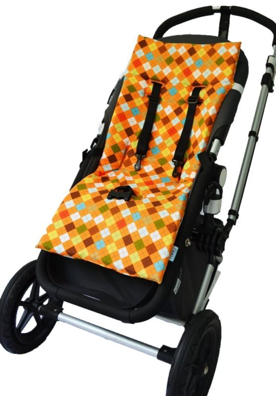 Seat Liners 180916: Tivoli Couture Nu Comfort Memory Foam Stroller Pad And Seat Liner, Argyle Orange -> BUY IT NOW ONLY: $81 on eBay!