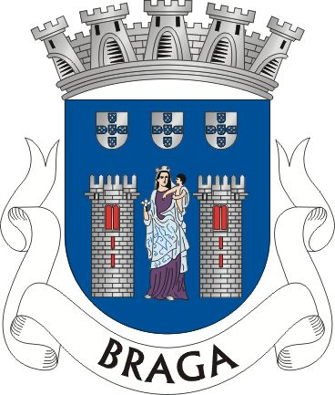 Coat of Arm of the Northern City of Braga, in Portugal.