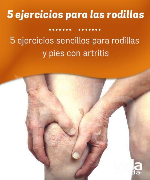 Ejercicios para las rodillas y pies con artritis.