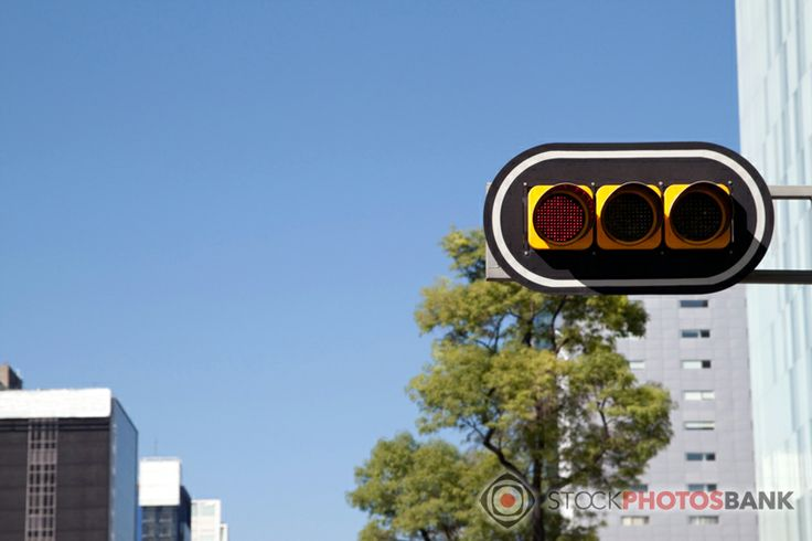Stockphotosbank: Traffic lights in Mexico City