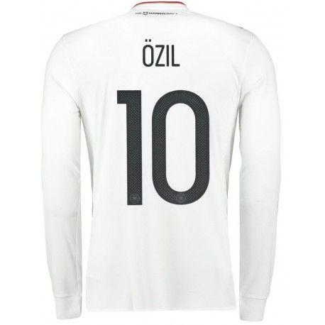 Maillot Allemagne OZIL Manches Longues 2017/2018 Coupe Du Monde Domicile.  Flocages Personnalisés Disponibles