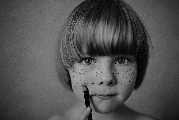 painted freckles b&w