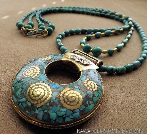 """Turquoise """"Balance and Strength"""" Statement Necklace ~ 20% OFF   Kawai-Gemstones - Jewelry on ArtFire. Beautiful Necklace."""