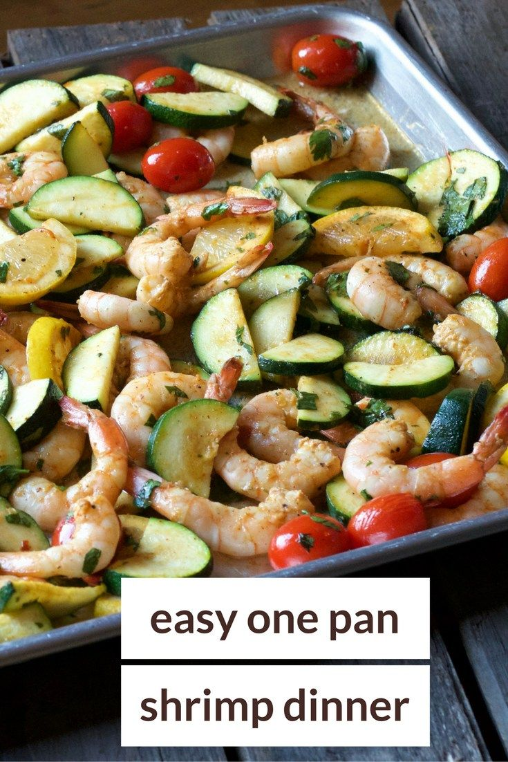 one pan shrimp dinner made with whole food ingredients