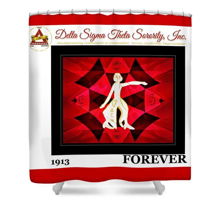 Forever Delta Shower Curtain