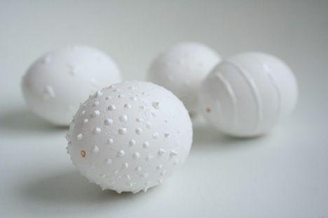 White on white eggs
