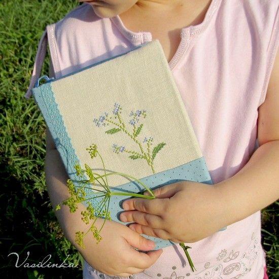 vasylynkiny дорожки: Незабудки / Forget-me-not embroidery, cross-stitch, Kazuko Aoki, Wildflower garden, Незабудки