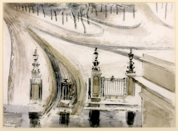 Paul Nash (1889‑1946) London: Winter Scene, No. 2 1940 Graphite and watercolour on paper support: 289 x 394 mm Tate Gallery