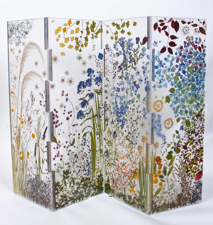 High Quality Resin Cast Room Screen Panels With Real Flowers Good Ideas