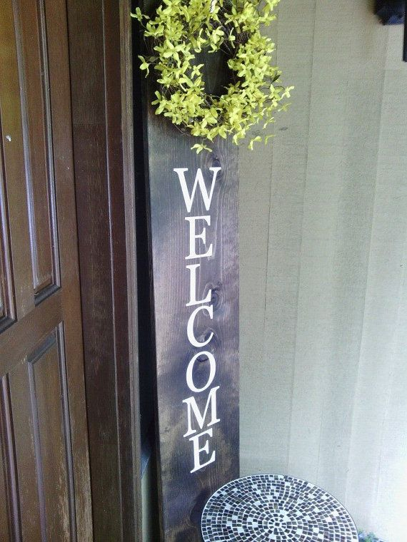 Vertical Welcome Sign Huge Welcome Sign By