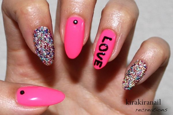 KKN recreates: Neon Caviar Nails