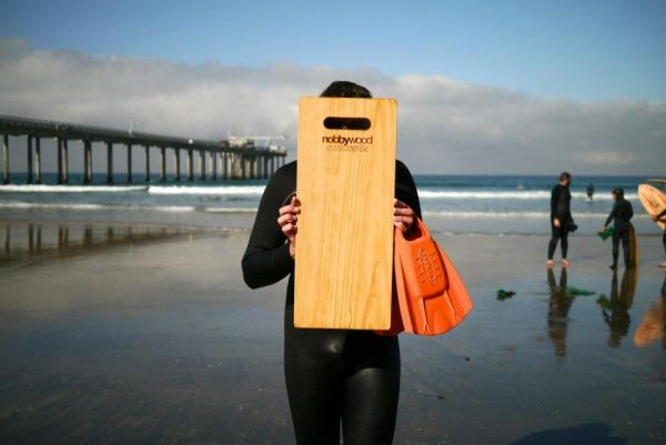 """Japanese """"Itago"""" board by Nobbywood Surfboards"""