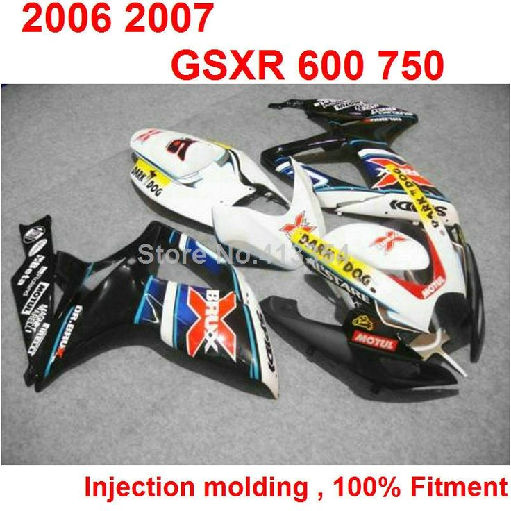 427.70$  Watch here - http://aikp5.worlditems.win/all/product.php?id=32752484373 - Cheap injection molding fairings for Suzuki GSXR 600 750 06 07 white black yellow blue fairing kit GSXR 750 2006 2007 NB58