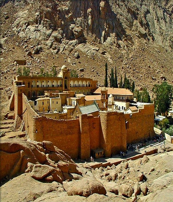 EGYPT - Saint Catherine's Monastery can be found just below Mount Sinai. It is the oldest working monastery in the world.