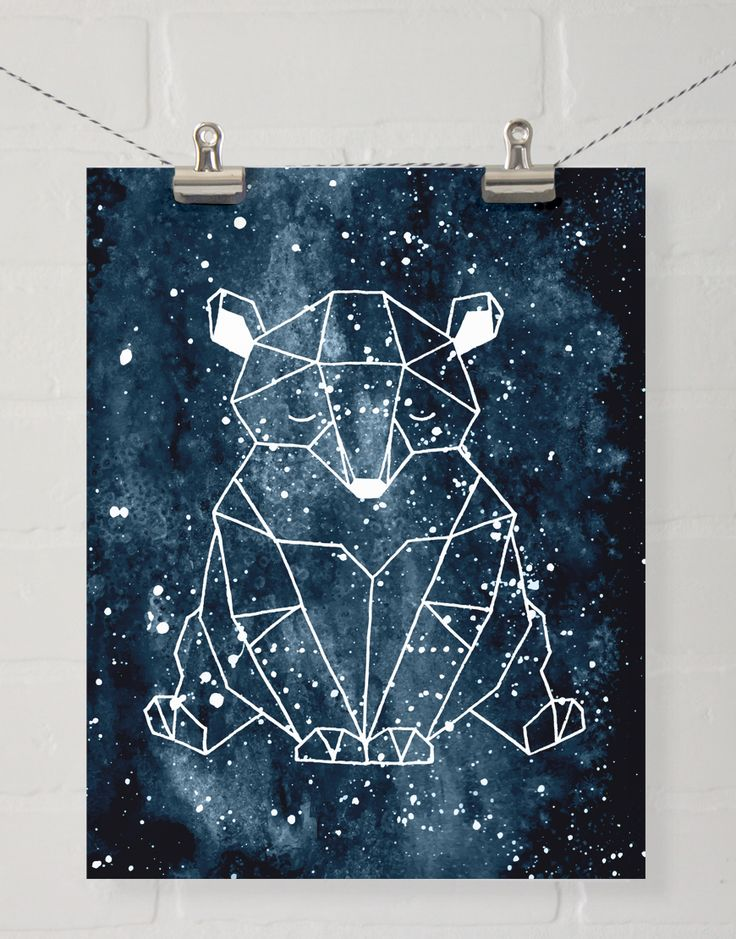 Goodnight Bear Wall Art - We thought this sweet guy looked like a constellation, and while he may not really be a constellation, he sure is cute and was designed to coordinate with our collection, The Great Outdoors.