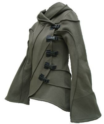 Vodabox - Army Green Hooded Cyber Jacket