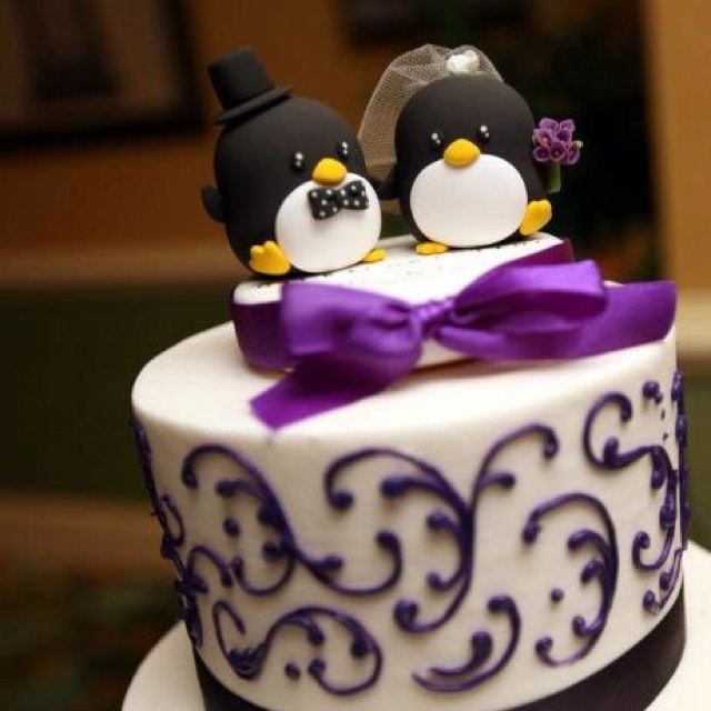 Penguin cake toppers! I think this is my favorite.