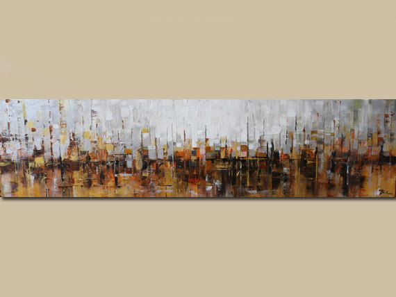 ORIGINAL abstract painting  Abstract art-brown by artbyoak1