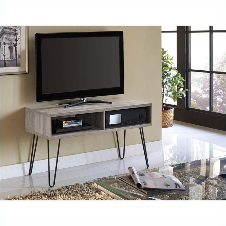 Owen 42 Inch TV Stand in Sonoma Oak and Gunmetal Gray