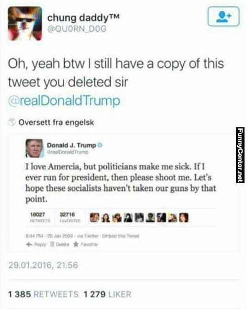 Donald Trump Deleted Tweet