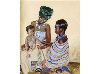 Mother and Child By George Pemba ,1955