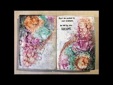 Art Journal Flip through 4 - YouTube