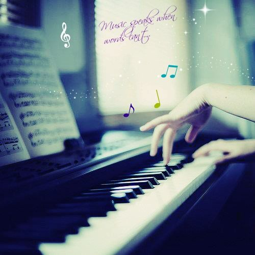 Music speaks when words can't.... :D