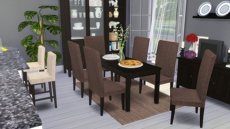 "Corporation ""SimsStroy"": The Sims 4. IKEA Dining Room Furniture."