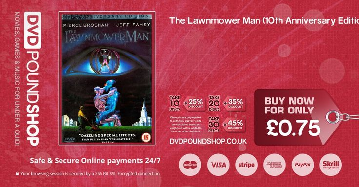 Buy The Lawnmower Man (10th Anniversary Edition) DVD (DVD Movies & Film : Science Fiction) today for only £0.75 GBP!