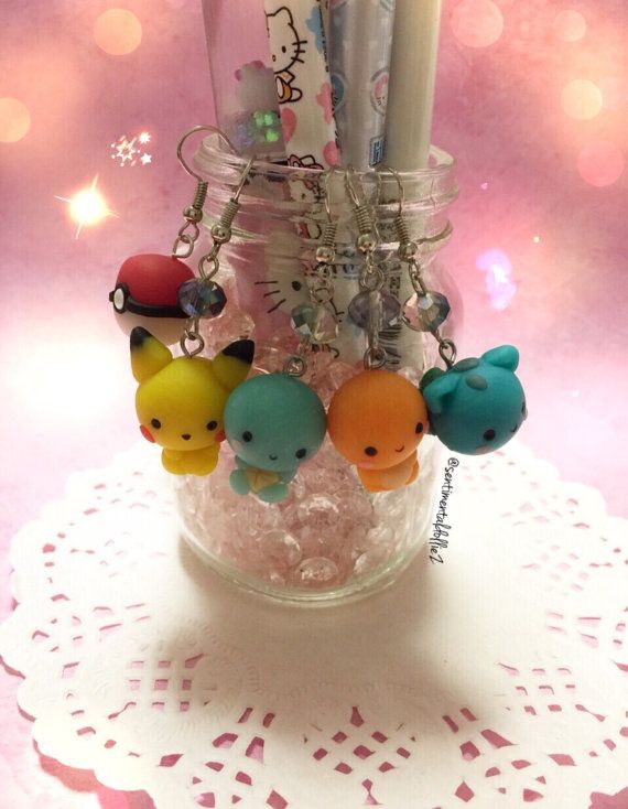 Pokemon, Pokemon Jewelry, Pokemon Bracelets, Pikachu, Squirtle, Bulbasaur, Charmander, Pokeball , Chibi Pokemon, First Generation Pokemon