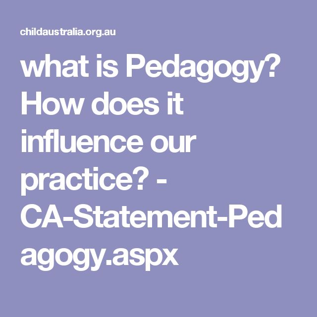 how to write a pedagogy statement early childhood