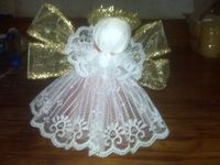 Ribbon, Lace and Tulle Angel...maybe to be used as a tree topper??