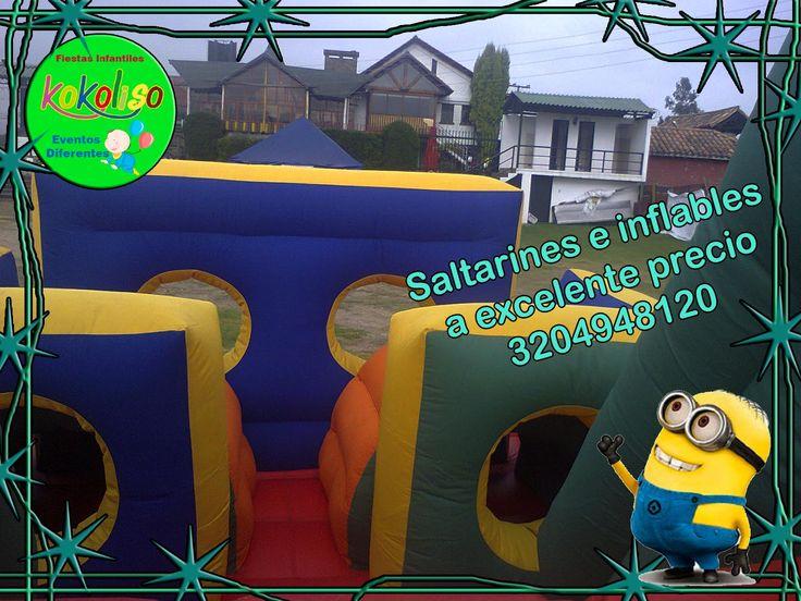 Tenemos los mejores inflables y saltarines para fiestas infantiles en Bogotá chía y cajica llámanos al 3204948120-4119497 #saltarines #inflables #fiestasinfantiles